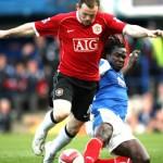 Linvoy tackles Wayne Rooney